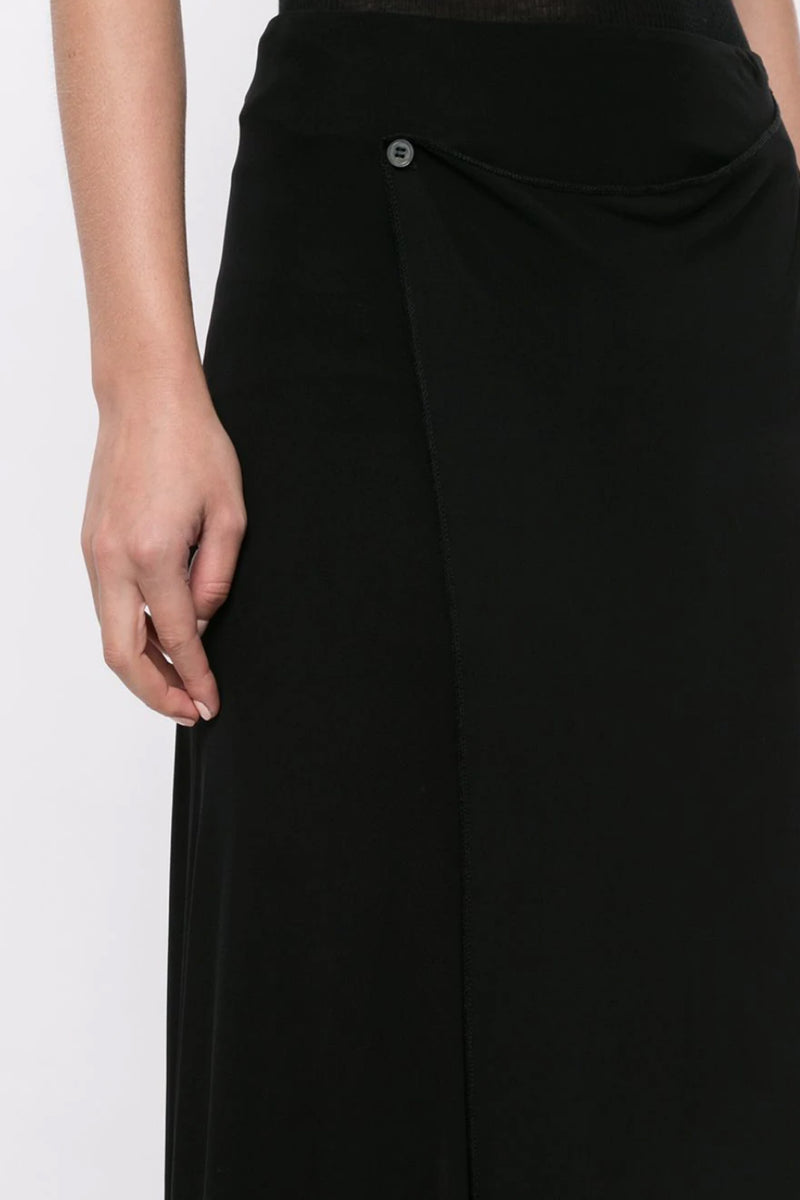 Black Jersey Bias Skirt