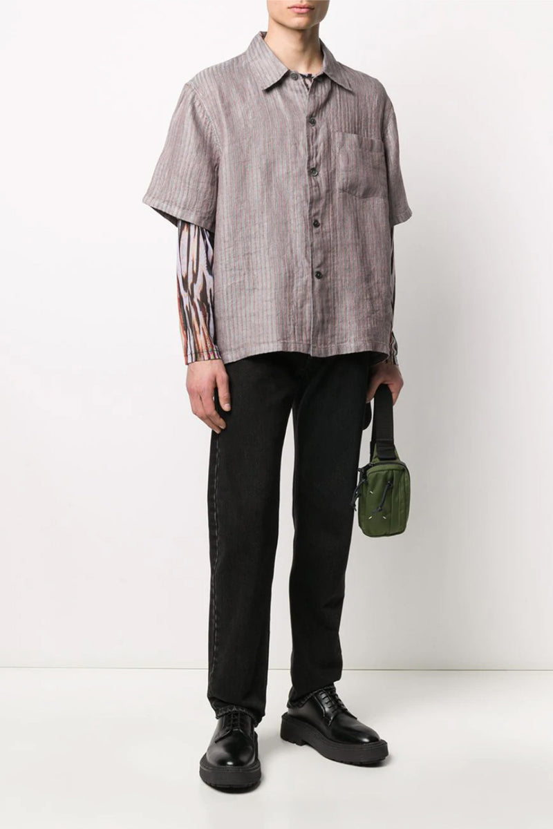 Stripe Box Shortsleeve Shirt