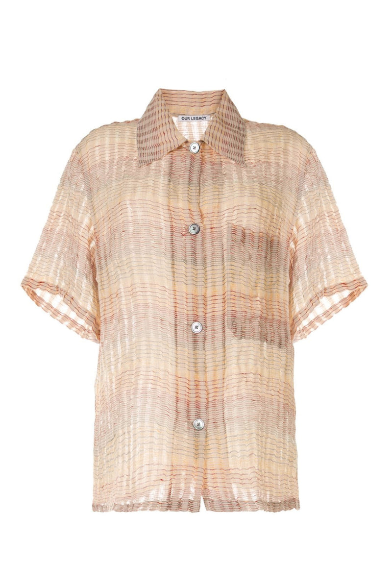 Red Stripe Structure Square Shirt