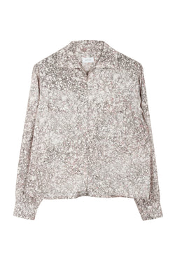 Printed Chalk Zipped Shirt