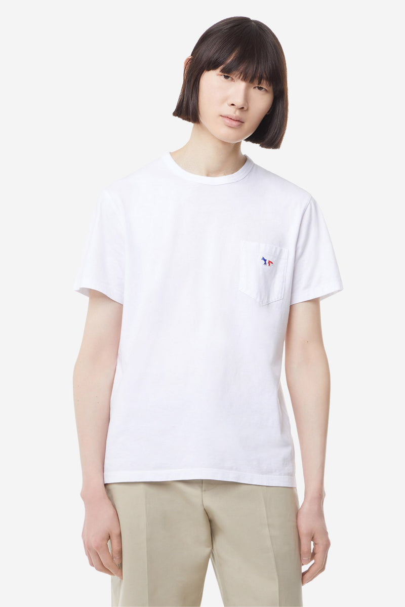 White Tricolour Fox Tshirt