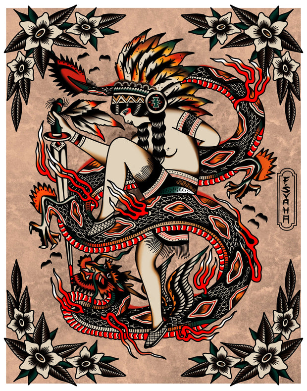 Florian Svaha Two Spirit Dragon Dancer Print