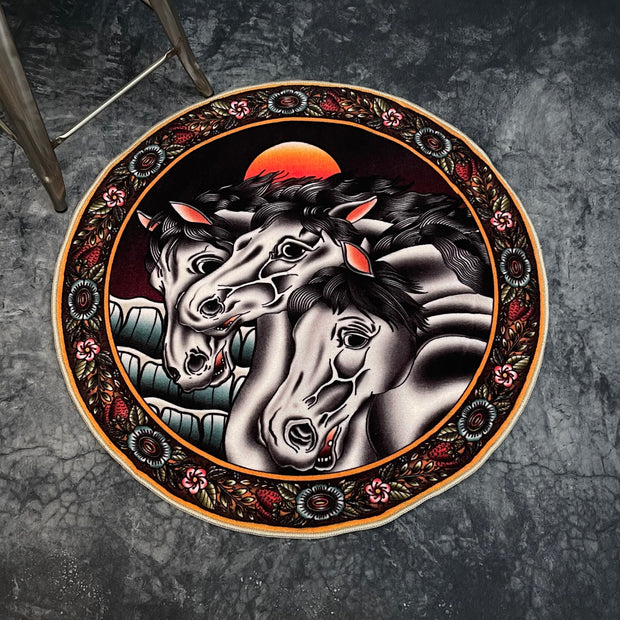 One of a Kind Hand Painted Wooden Plate.