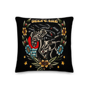Pharaohs Horses Throw Pillow