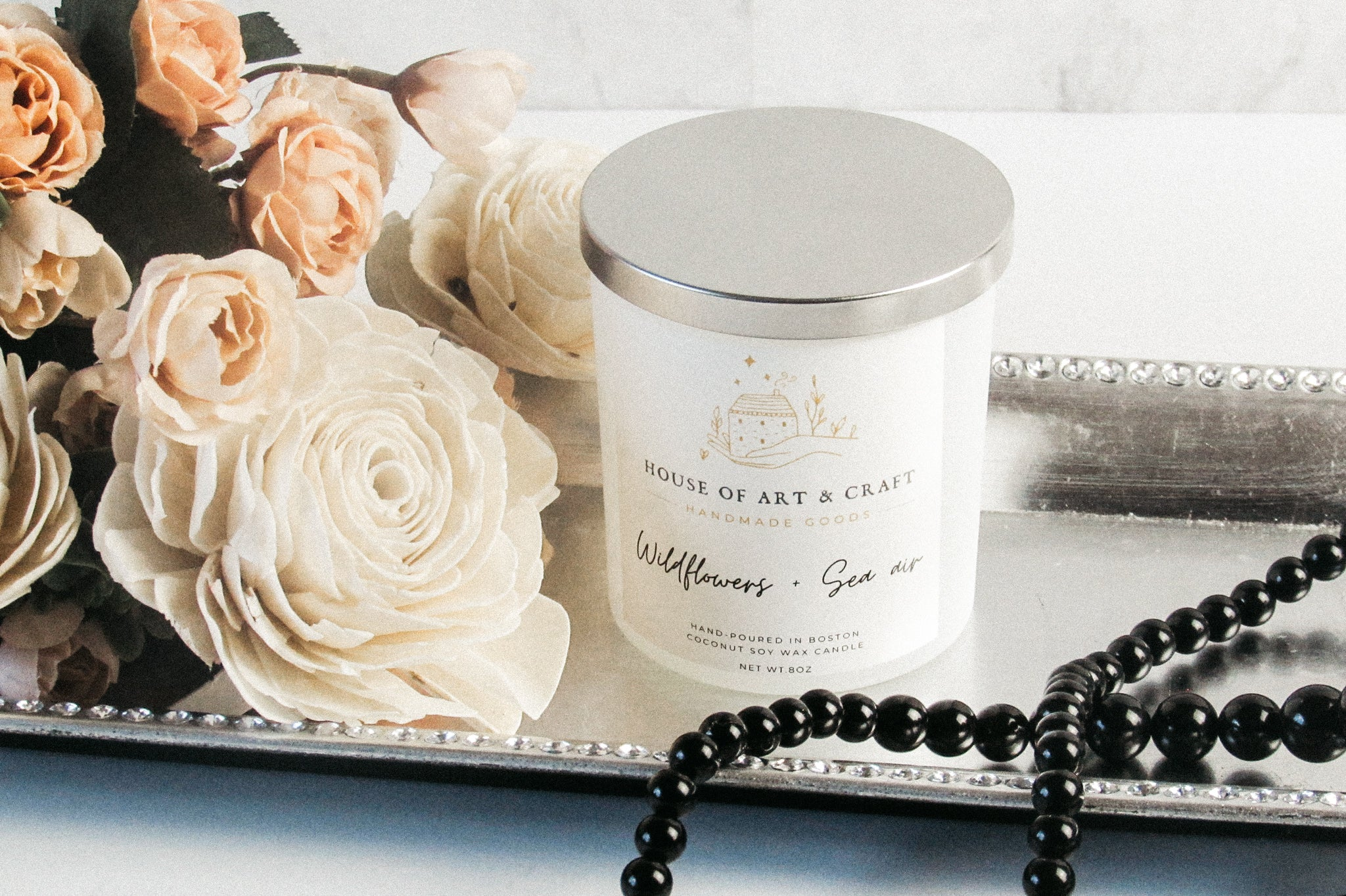 Wildflowers & Sea Air Candle | The Pretty In You Collection