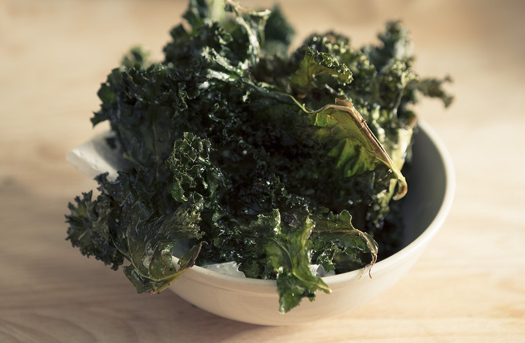 Recipe - Kale Chips with Coconut Oil - The Organic Project