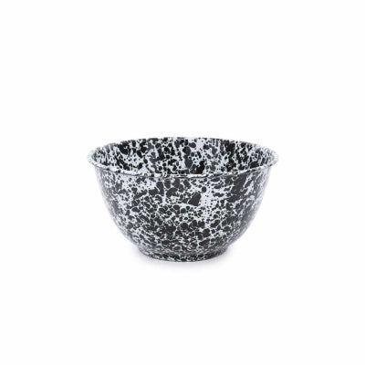Black Marble 4 Qt Salad Bowl
