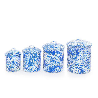 Blue Marble Canister Set