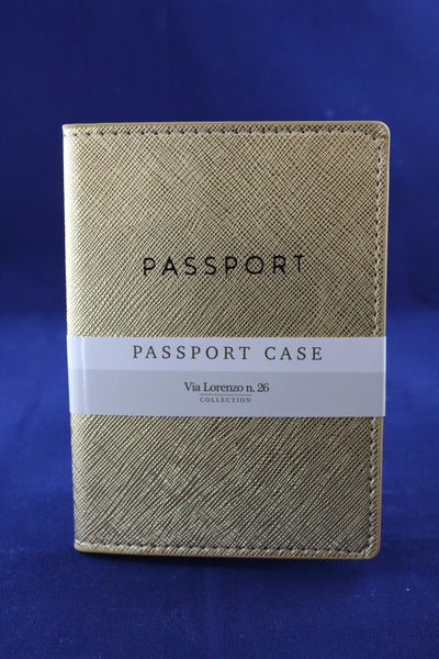 Passport Case/Gold Shimmer