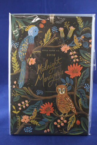 MIdnight Menagerie Wall Calendar