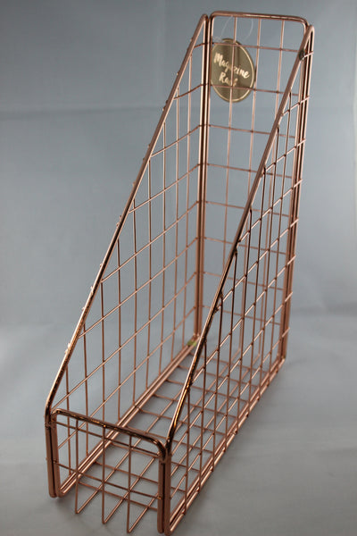 Copper Magazine Stand