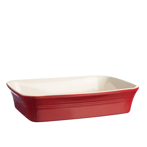 Red Rectangular Baker