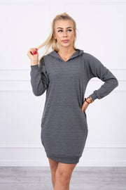 Lucy Hooded dress, grey