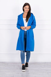 Kylie Hooded Cape, Blue