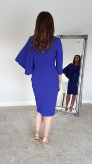 Casting Cape Dress, Blue