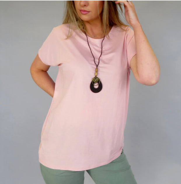 Deck loose fit top, Blush Pink
