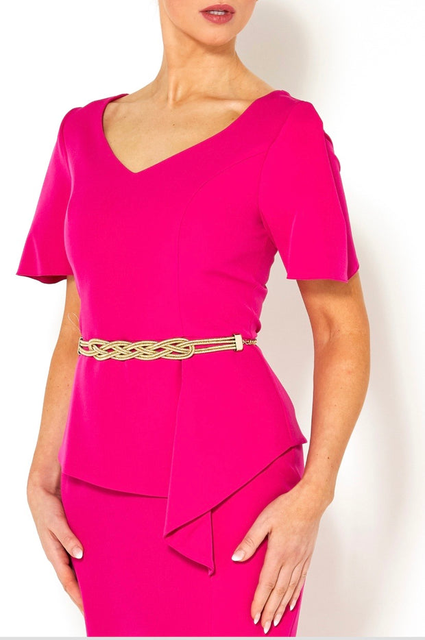 Casting Peplum Dress, Pink