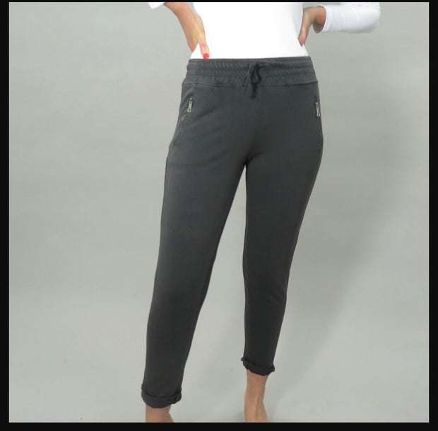 Deck Jersey Joggers , Charcoal Grey