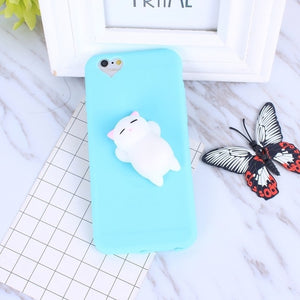 Squishy Cat Soft Phone Case for iPhone