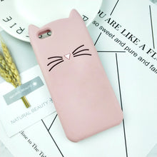 Load image into Gallery viewer, Squishy cute cat case for iPhone
