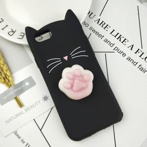 Squishy cute cat case for iPhone