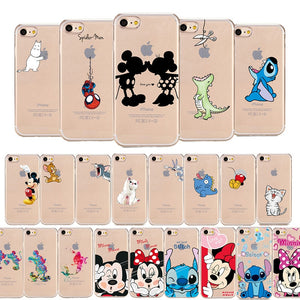 Cartoon Silicone Phone Case For iPhone (01)