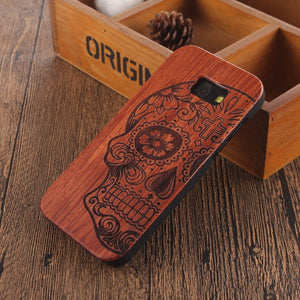 Wooden Bamboo Case For samsung galaxy
