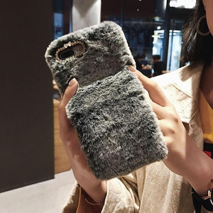 Squishy furry cute case for iPhone