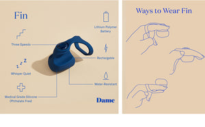 Dame Fin - Finger Vibrator by Dame - Vegan Vibrator - Bold Humans - Toy, Vibrator