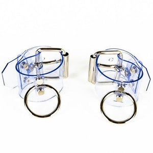 CUFFS - Transparent by Luitrash - Vegan Cuffs - Bold Humans - Kink, Restraints, Wearable