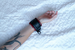 SAFFRON - Faux Leather Cuffs by [product.vendor] - Vegan [product.type] - Bold Humans