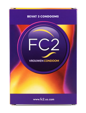 Load image into Gallery viewer, FC2 - Internal Condom 3 pcs by [product.vendor] - Vegan [product.type] - Bold Humans
