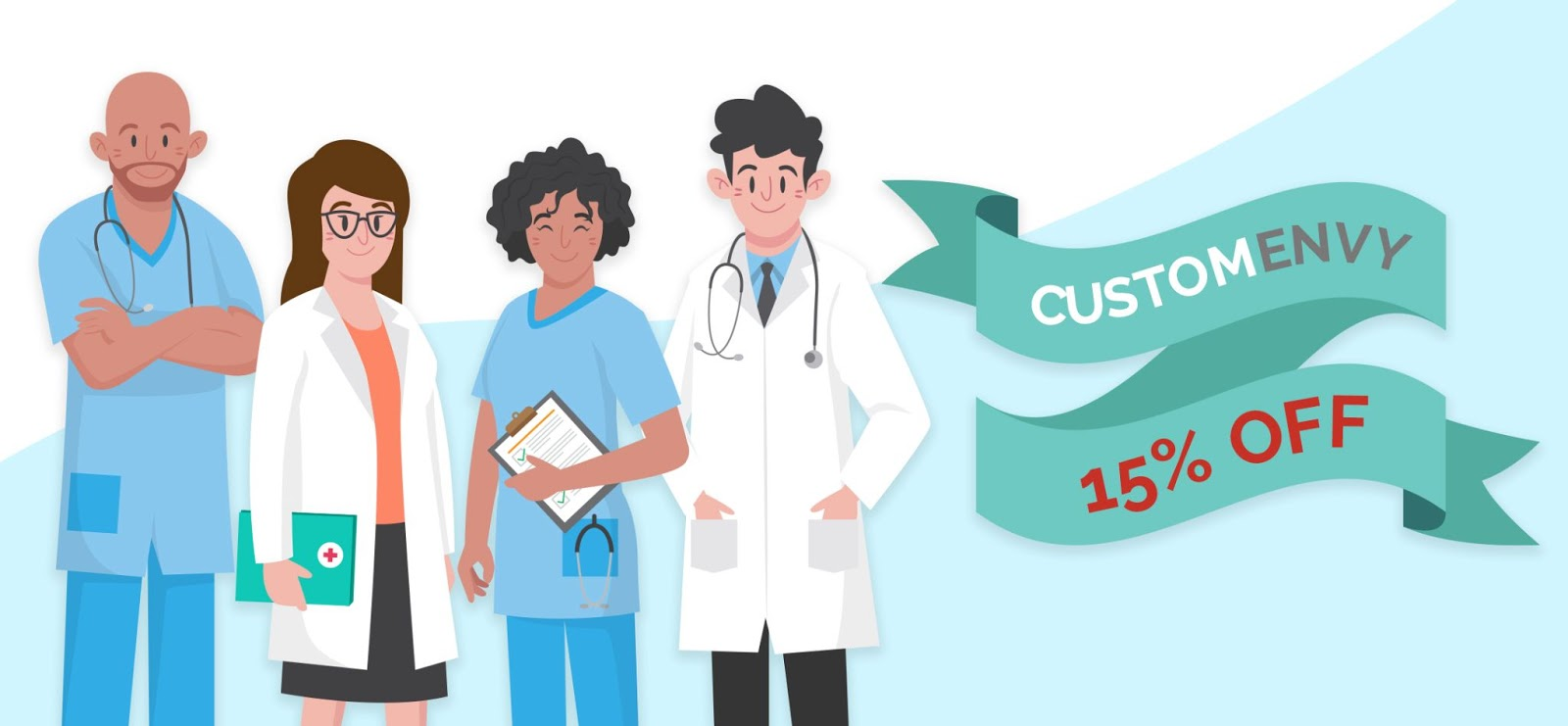 Our Dear Health Workers: Save 15% off on Custom Envy Products