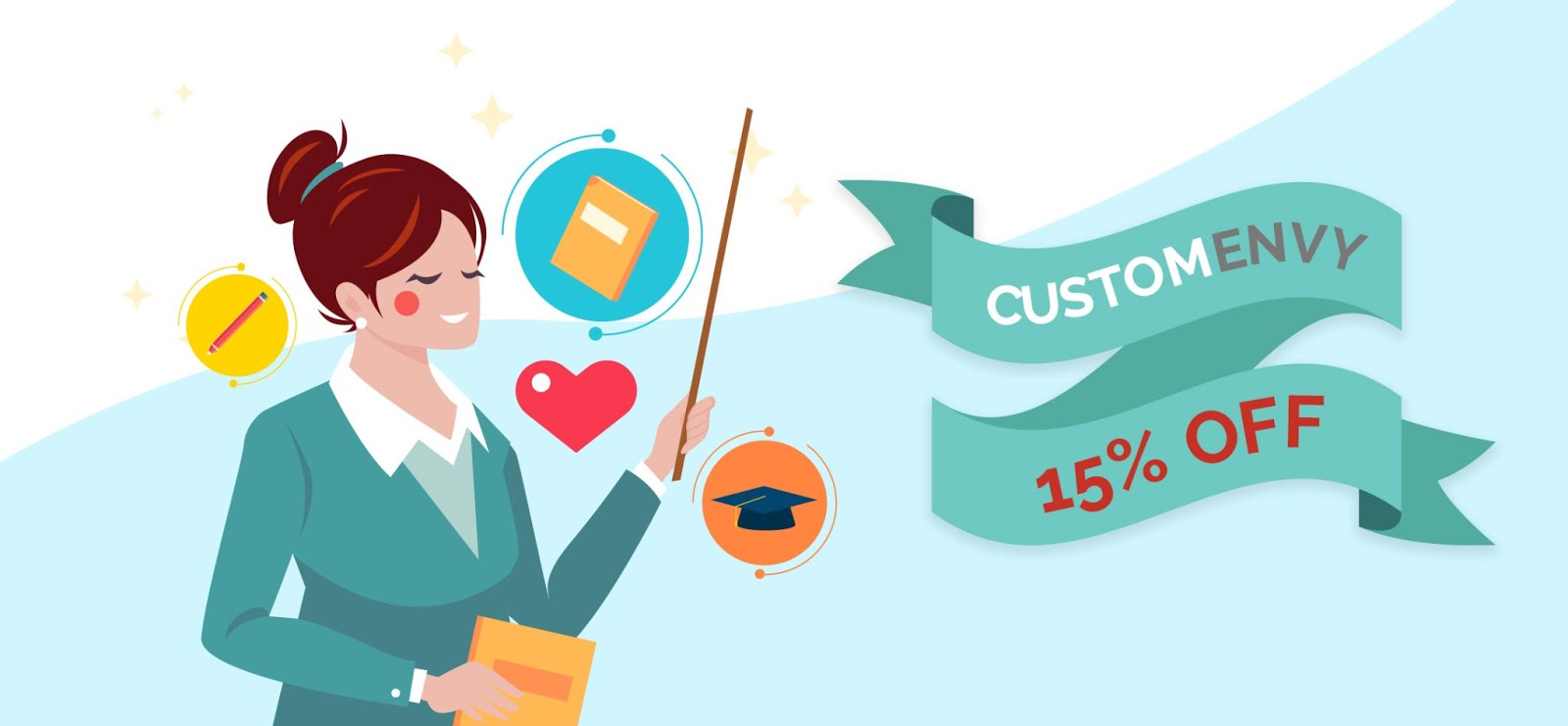 Make Learning More Fun, Enjoy 15% Off with Custom Envy