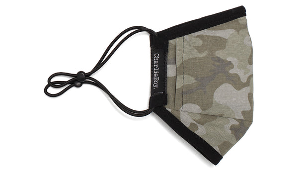 Face Mask - Black Denim/Camo