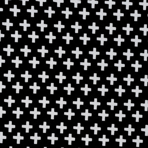Black with White Cross