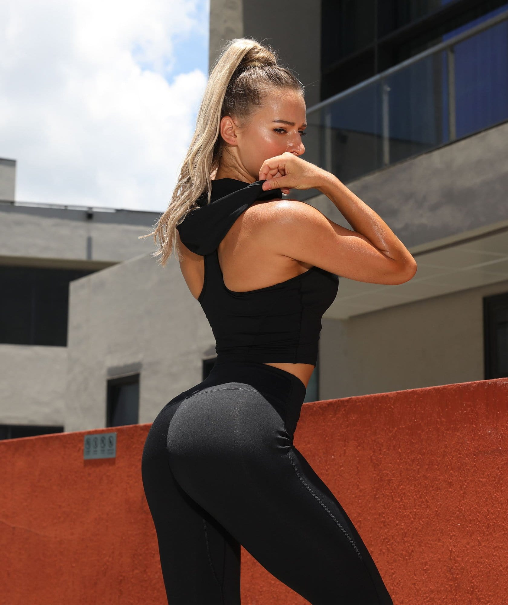 High Waist Training Leggings - Firm Abs Fitness