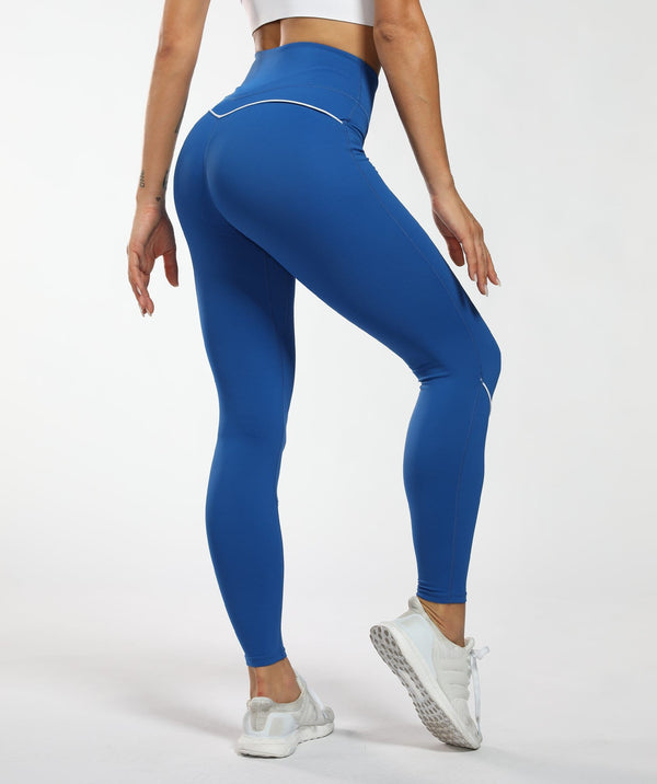 Honeypeach Vital Leggings - Blue - Firm Abs Fitness