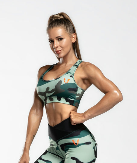 Camo Sports Bra - Firm Abs Fitness