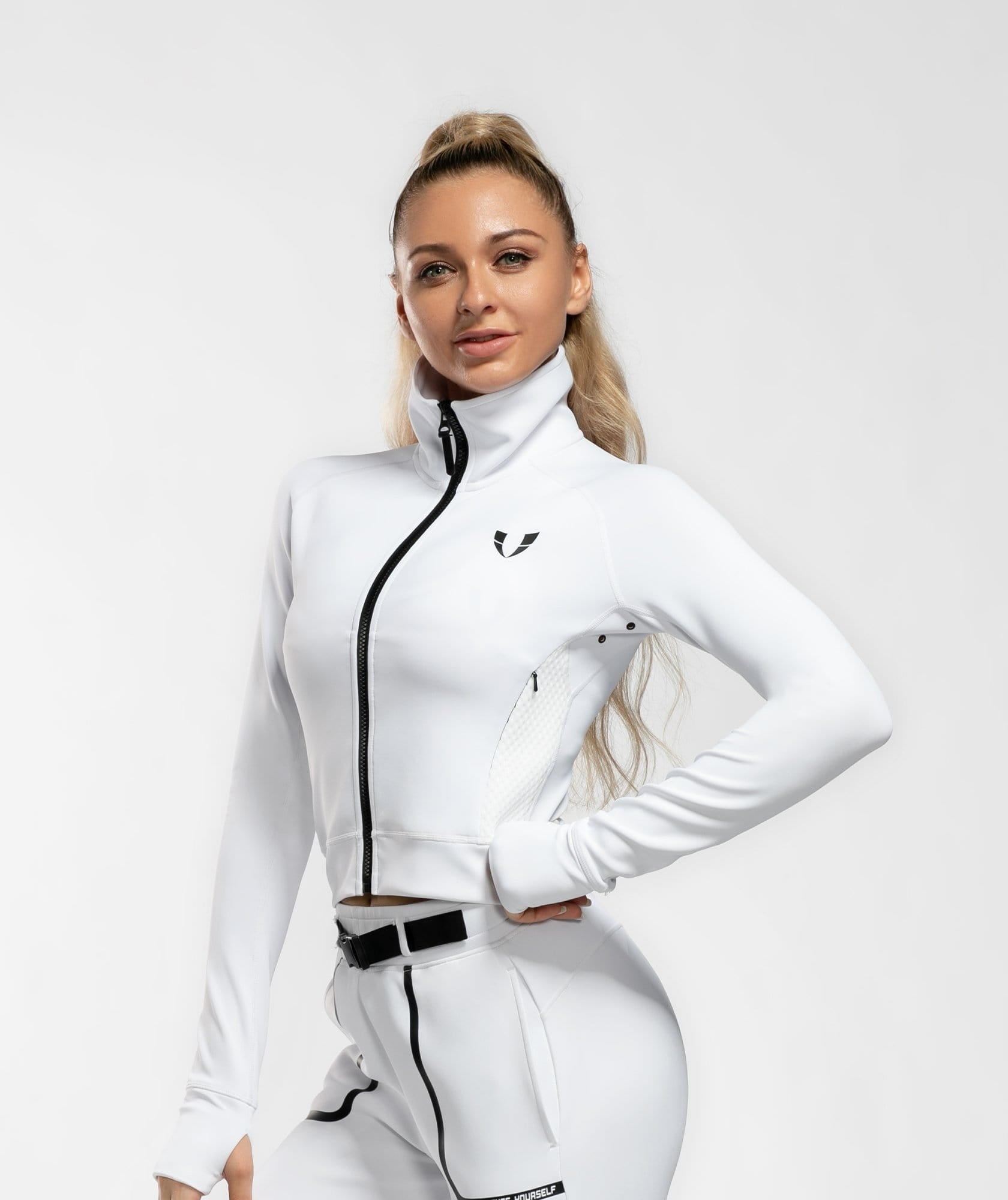 Training Utility Jacket - White - Firm Abs Fitness