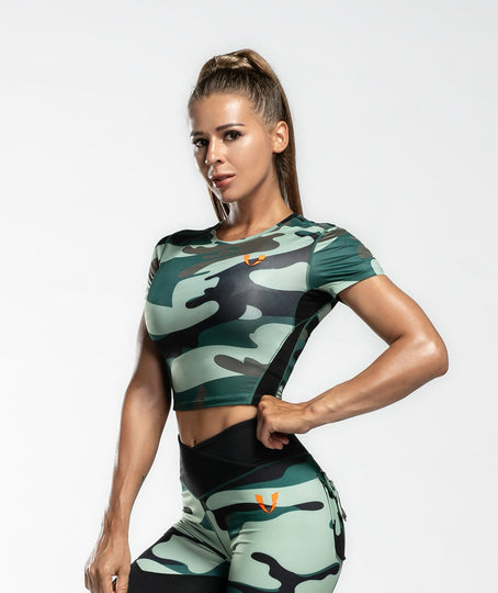 Camo Crop Top - Firm Abs Fitness