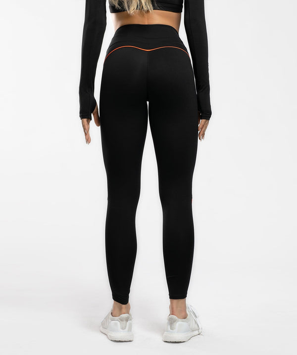 Honeypeach Vital Leggings -Black - Firm Abs Fitness