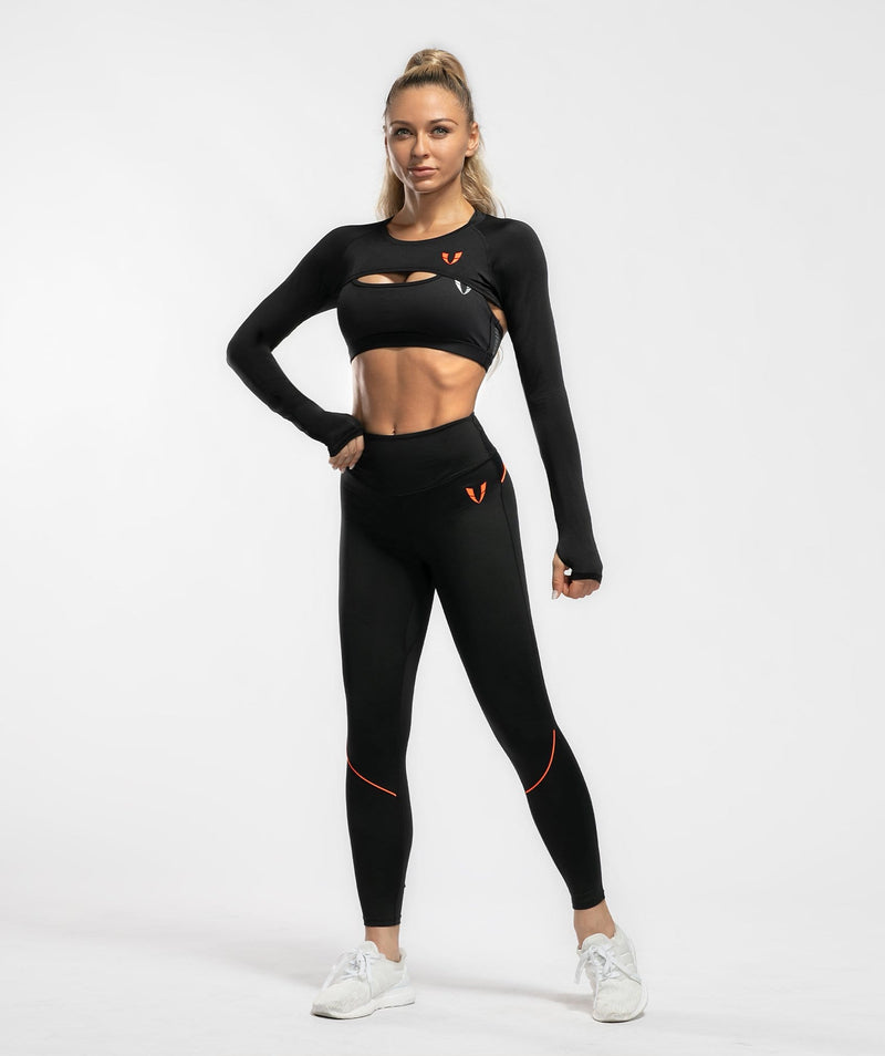 Long Sleeve Extreme Crop Top - Firm Abs Fitness