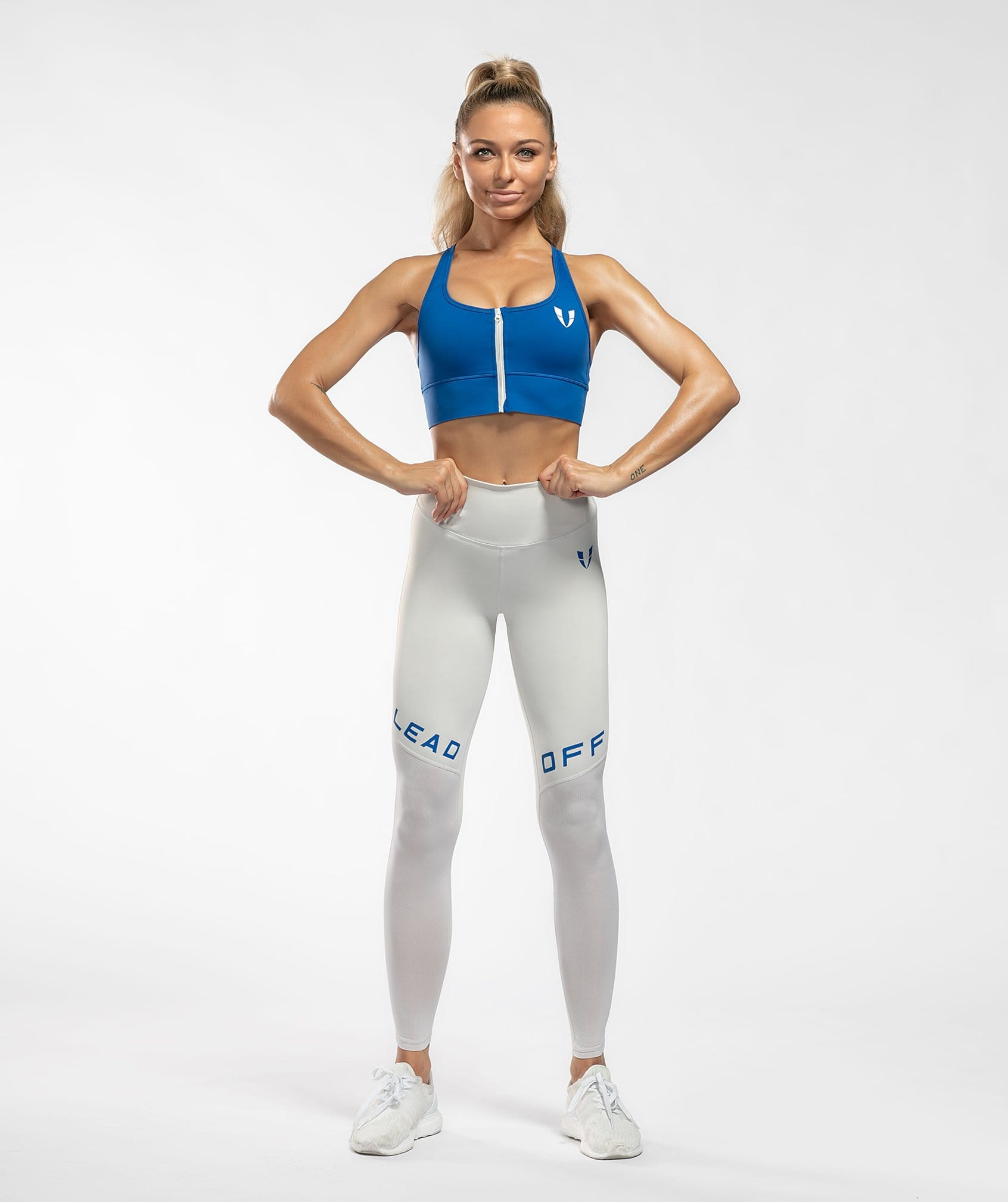 Core Leggings Pro - Light Gray - Firm Abs Fitness
