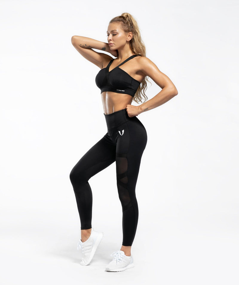 Allure Sports Bra - Black - Firm Abs Fitness