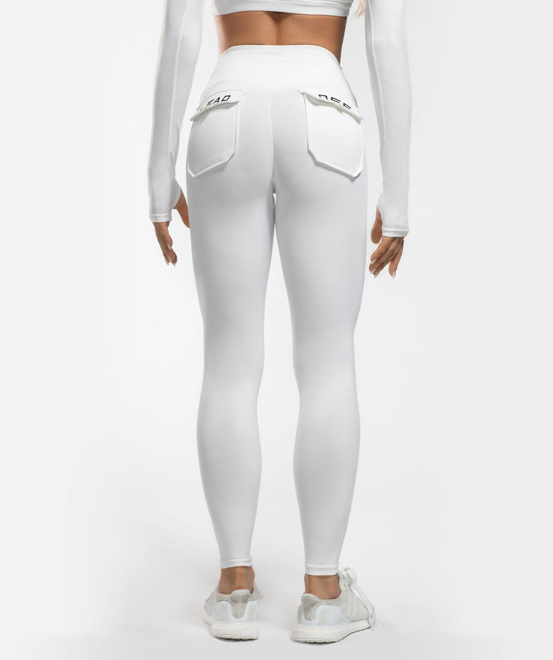 Core Leggings Pro - White - Firm Abs Fitness