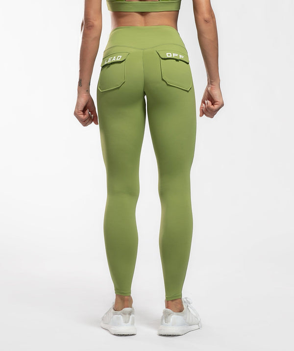 Core Leggings Pro - Green - Firm Abs Fitness
