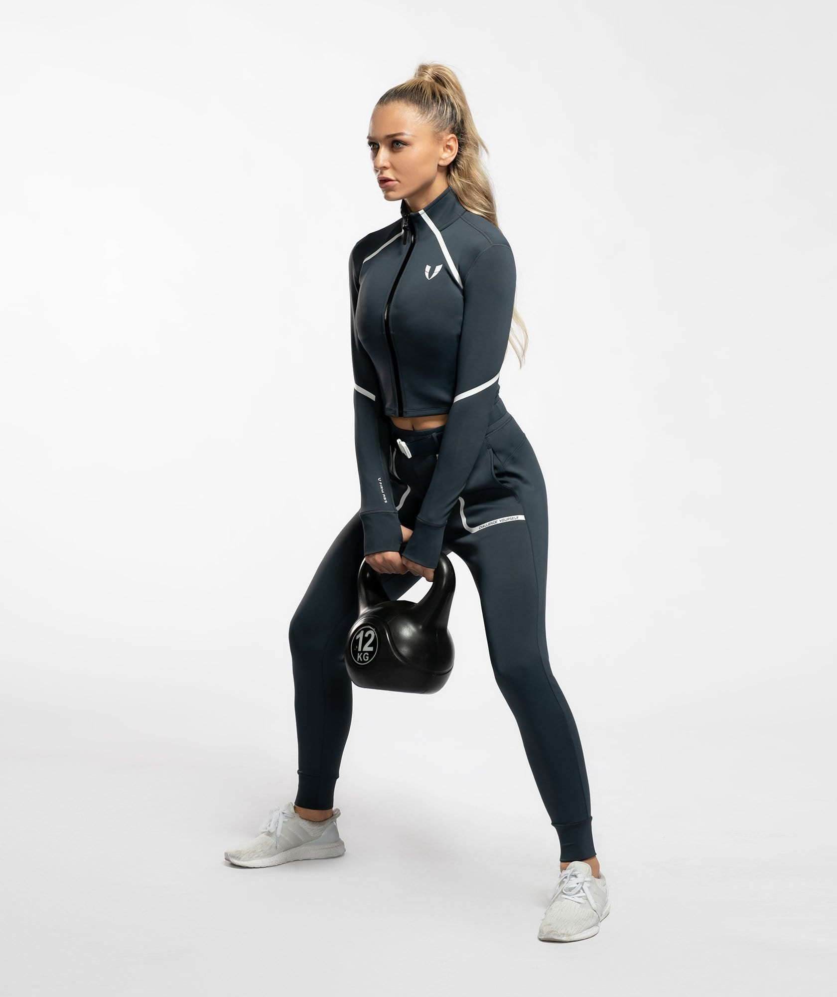 Vital Zip Up Jacket - Blue Ashes - Firm Abs Fitness