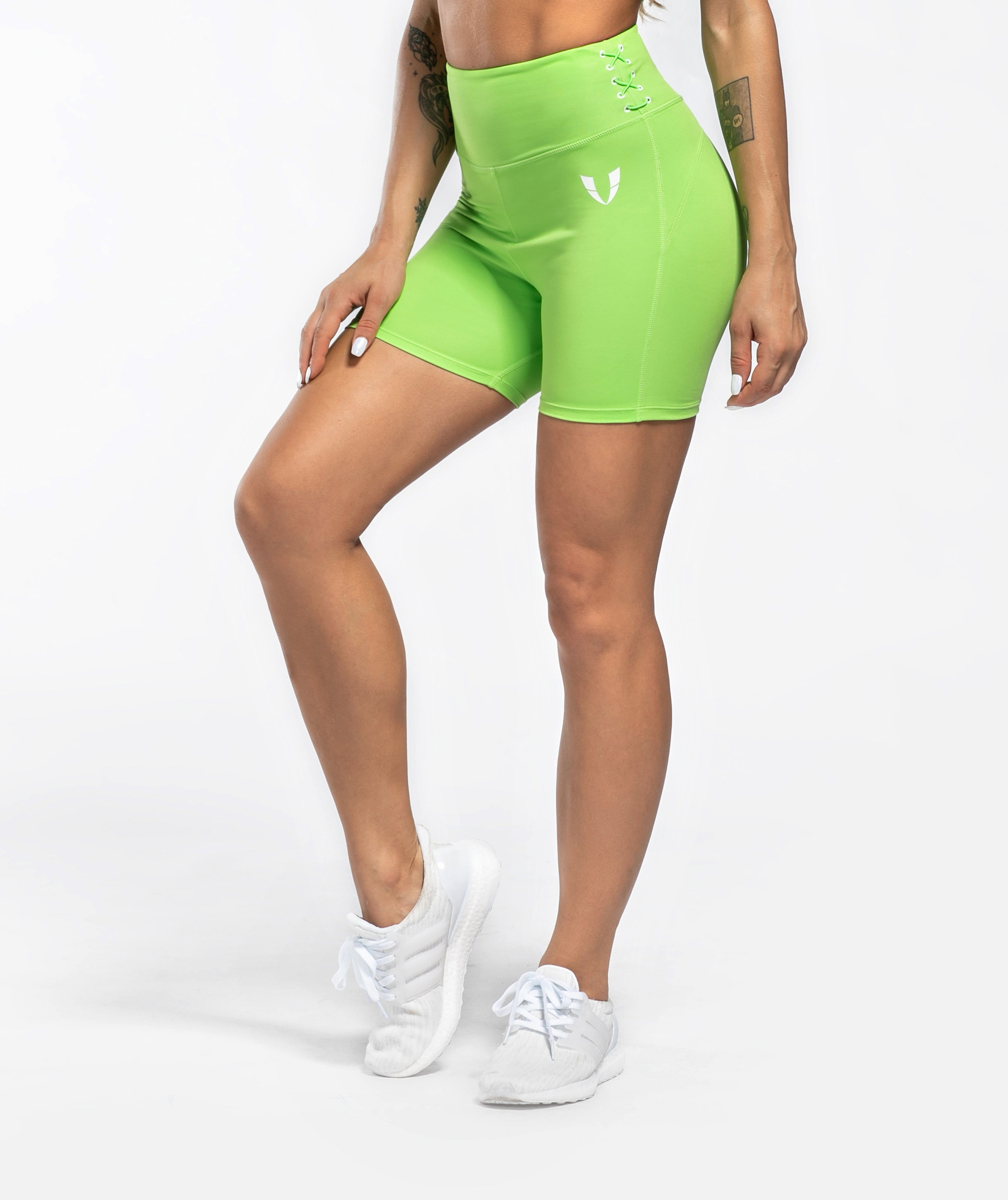 Honeypeach Sculpt Shorts - Green - Firm Abs Fitness