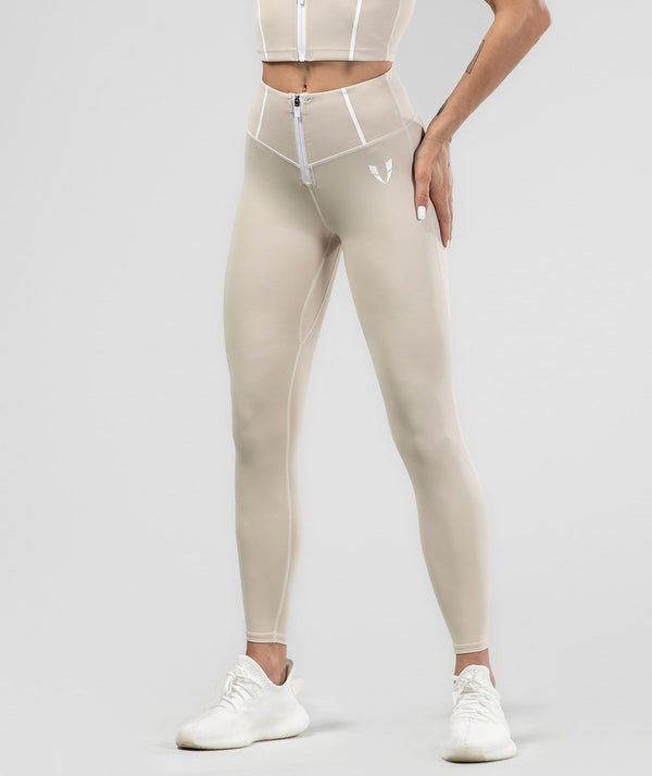 Shaping Training Leggings - Off White - Firm Abs Fitness